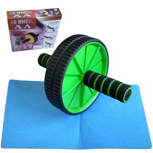 6bfa327130f68 C28951-A-4 Ролик гимнастический 2-х рядный с неопреновыми ручками (зеленый