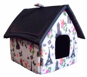 Dogman Домик будка для кошек и собак средняя микс цветом, 35х35х41 см