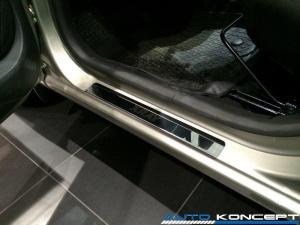 Накладки на пороги нерж.сталь Lada Xray 2020- (комплект 4шт.)