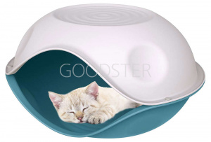 Домик для собак и кошек Georplast Duck Plain пластик 57х48х32 см (1 кг)