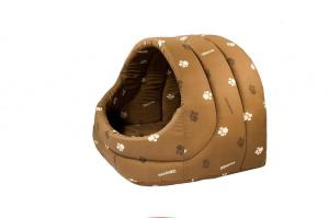 """Предметы содержания и ухода Дарэлл домик для кошек собак мягкий """"ЛУКОШКО""""54*48*44 см коричневый, 2,65 кг."""