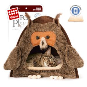 GiGwi Домик «Сова» для кошек и маленьких собак