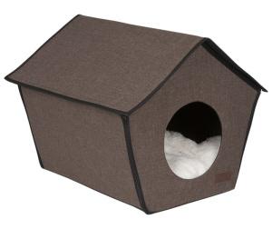 Lion Домик будка каркасный для собак и кошек Монако коричневый. 43х31х43см