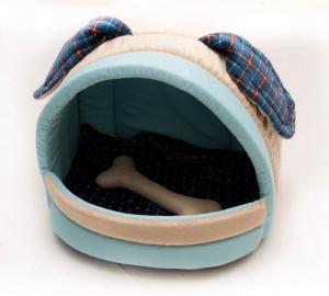 Домик-лежанка «Мята» с косточкой и съемной подушкой для собак 41*32*30 РП