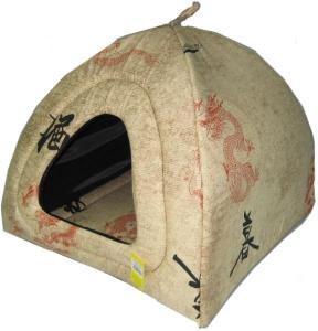 Домики и лежаки Usond ЮСОНД ЛЖ-074 Дом для кошек Юрта №2 средняя 44*44*48 бязь, 1кг, 1 кг