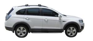 Багажник Whispbar FlushBar Chevrolet Captiva 2020, 7 5 Door SUV 2006 - 2020 (Rails) c рейлингами