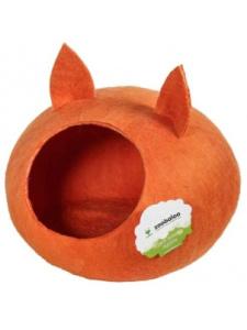 Zoobaloo Домик для кошек и собак WoolPetHouse, круглый, размер M, с ушками, 895, Малиновый