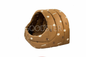 """Предметы содержания и ухода Дарэлл домик для кошек собак мягкий """"ЛУКОШКО"""" 48*42*38 см коричневый, 2,1 кг."""