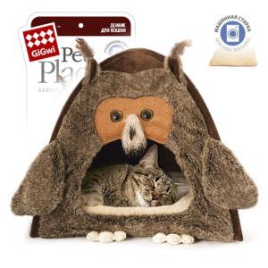 Домик для кошек и собак Gigwi Сова, 38х38х40см
