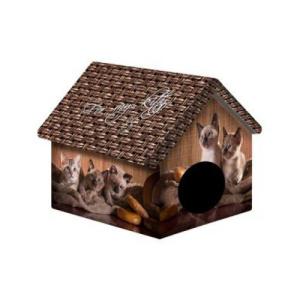 Дом PERSEILINE Дизайн для животных, Котята и мешковина, 33*33*40 см, 600 гр