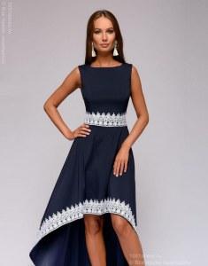 e860151d99d Трикотажные летние платья с кружевной отделкой - купить в Москве по ...
