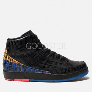 71482aaf Мужские кроссовки Nike Air Jordan 2 Retro Black History Month  Black/Metallic Gold