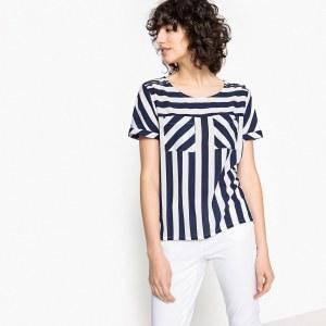 99cf5ea003b Блузка La Redoute С V-образным вырезом рисунком и короткими рукавами