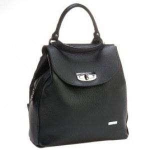 3c14a1da0c8a Сумка-рюкзак трансформер женская Alessandro Birutti 0183 Black Нат.кожа