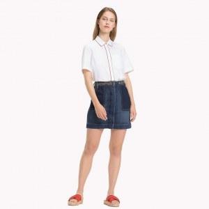 e02b57c710e55f4 Джинсовая юбка с вышивкой - Деним - Tommy Hilfiger - EU34 - Женщины