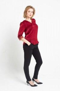 0dec0b1d876 NADYA Брючный костюм из шелка и поливискозы (44   Бордовый)