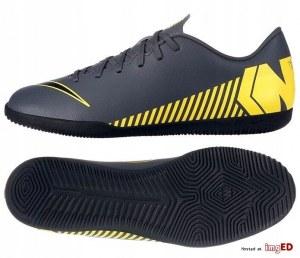 4bbc2621 Бутсы футзальные Nike Mercurial VaporX XII Club IC, 41.5, серый,  Профессиональный