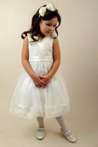 23323c2b23f6a11 Платье Anco Premium арт.263 Рост 90 белое нарядное платье для девочки
