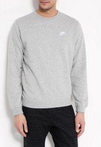 f66aad2a Свитшот NIKE 804342-063 Sportswear Crew мужской, цвет серый, размер 42-44