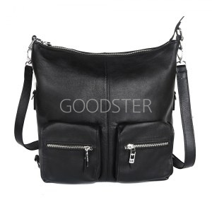 1e719ed559cd Женская кожаная сумка черного цвета Giorgio Ferretti 0329 Q11 black GF