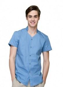 c2847111142 Рабочая одежда checkedout Мужская рубашка с оригинальным воротником-стойкой