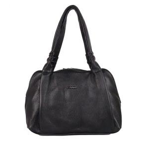 1ca97f56959f Женская кожаная сумка черного цвета Giorgio Ferretti 2017111-Q11 black GF