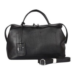 06e9c4b780ab Женская кожаная сумка черного цвета Giorgio Ferretti 201741 Q11 black GF