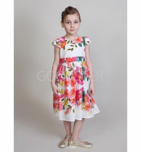 42b2910d3f63609 Платье Sweet Berry Нарядные платья, цвет: белый/розовый, для девочек, размер