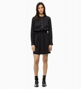 fb7049866e6eaad CALVIN KLEIN - Платье-рубашка с длинными рукавами - Черный - XL - Женщины