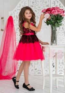 90a471544ca507e ALOLIKA Нарядное платье для девочки Кармелита малиновый (ПЛ-1931-8 116 см (
