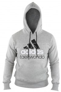 new product 57a99 8535e Толстовка (худи) с капюшоном Adidas Community Hoody Taekwondo adiCHTKD  серо-черная (размер